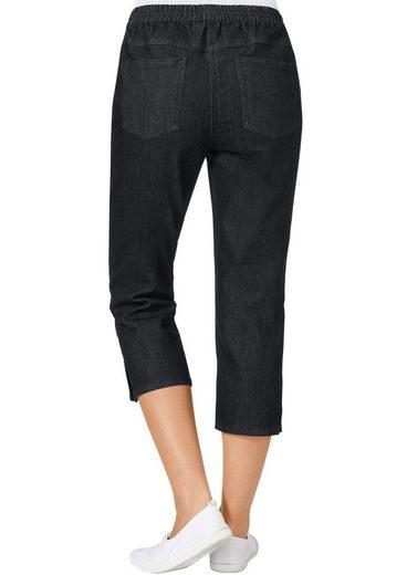 Classic Basics Capri-Jeans mit Rundum-Dehnbund