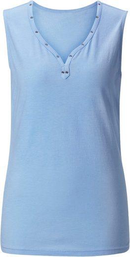 Collection L. Shirttop mit schimmernden Ösen