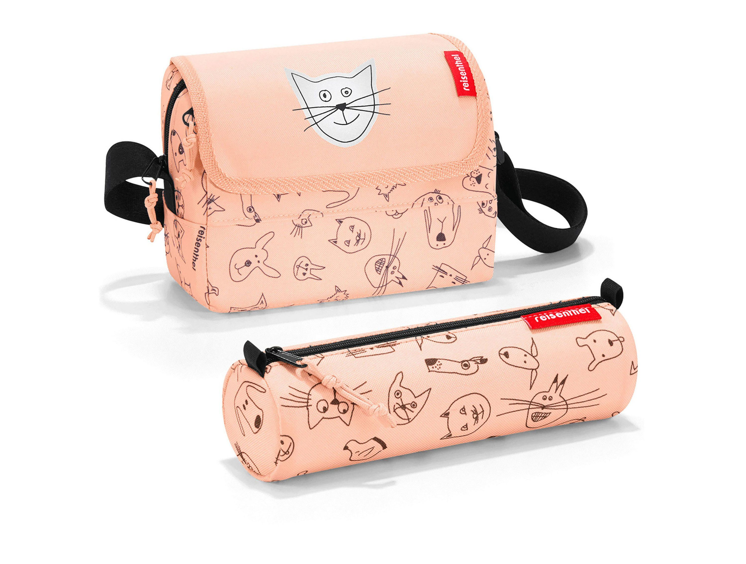 REISENTHEL® Kinder-Tasche mit Federmappe »Surprise cats and dogs«