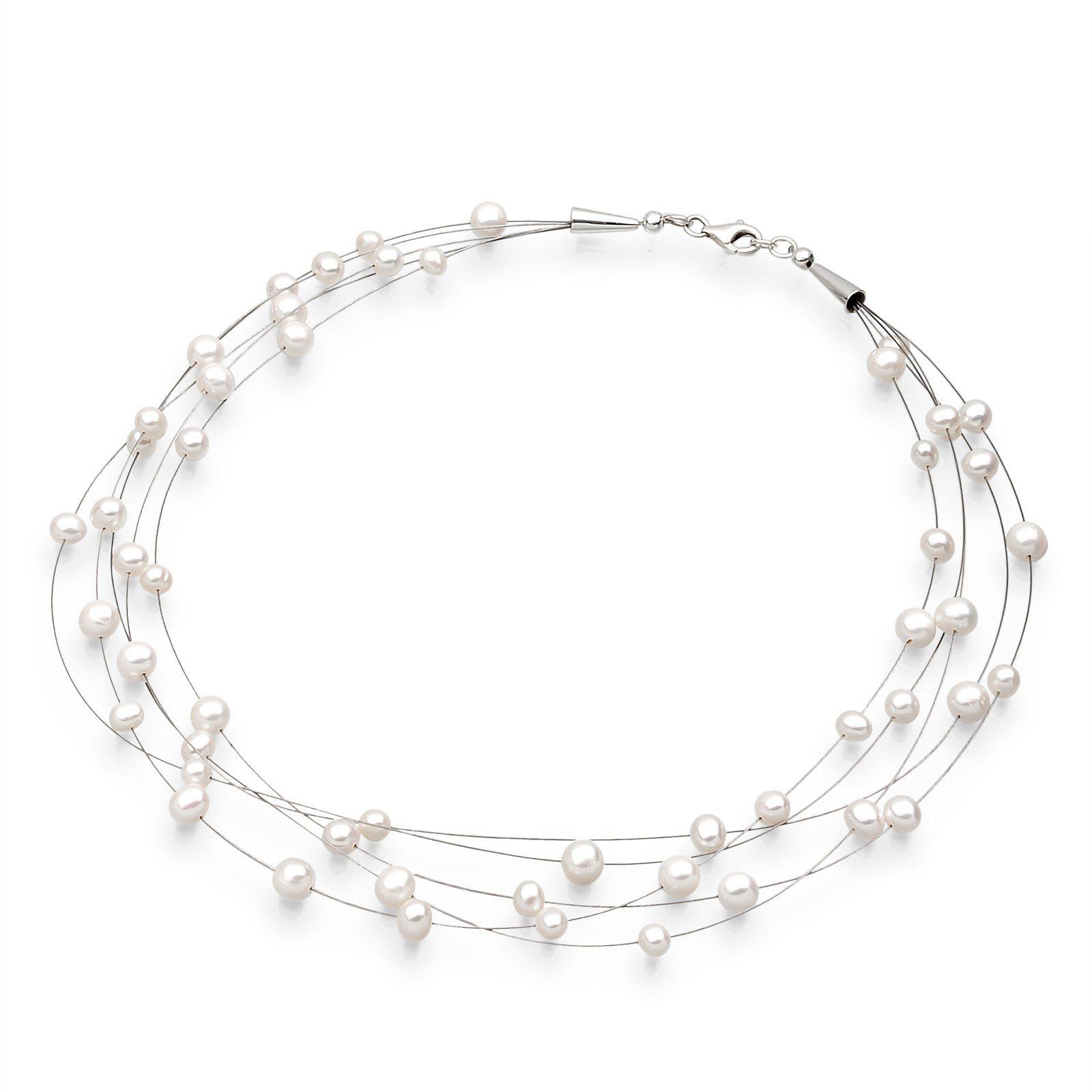 Elli Halskette »Süßwasserzuchtperlen 925 Sterling Silber«