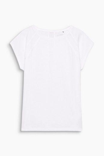 ESPRIT Shirt mit Mesh-Details, Baumwoll-Stretch