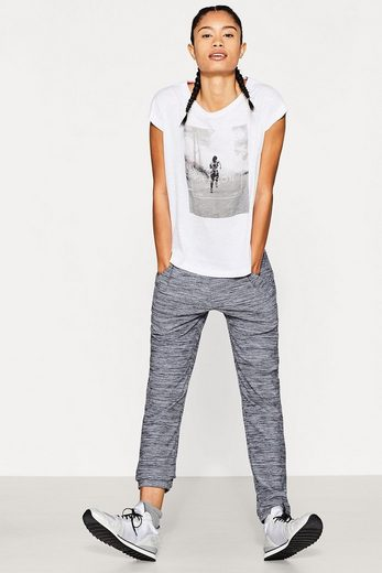 ESPRIT Slub-Shirt mit Photo-Print, Baumwoll-Mix