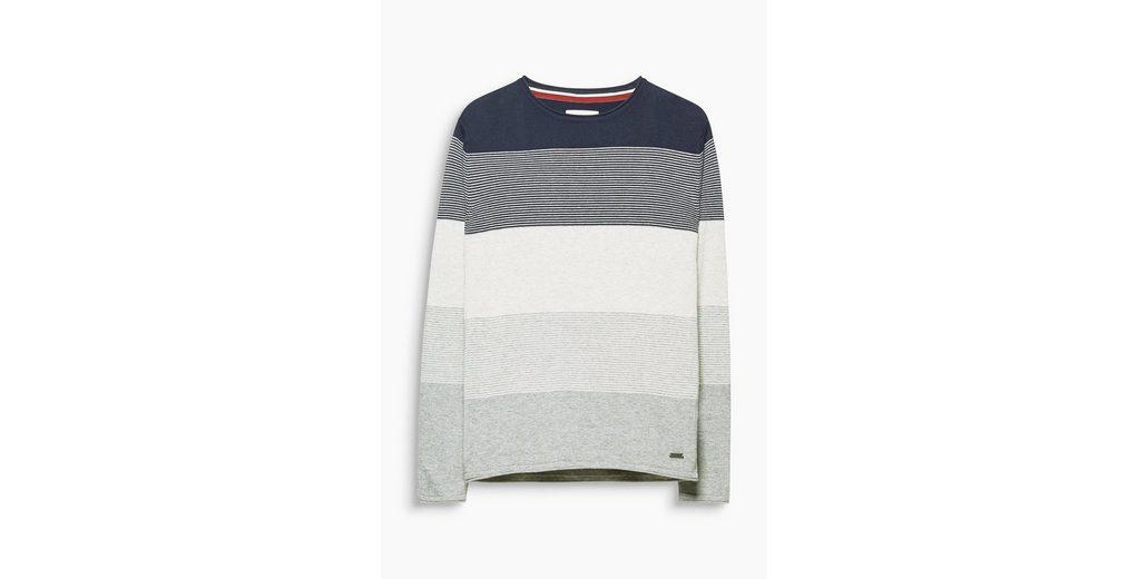 EDC BY ESPRIT Baumwoll-Sweater mit Blockstreifen Heißen Verkauf Günstiger Preis Günstiges Online-Shopping Online Shop Austrittsspeicherstellen 5mrPxdw