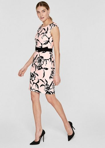 s.Oliver BLACK LABEL Scuba-Kleid mit Allover-Print