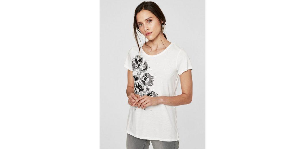Qualität Frei Für Verkauf Versandrabatt Authentisch s.Oliver BLACK LABEL Shirt mit Glanzprint und Studs Neueste Zum Verkauf Steckdose Zuverlässig Preiswert WJJ1inz