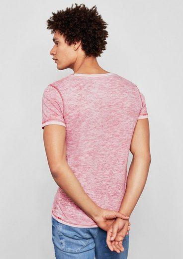 Q/S designed by Jerseyshirt mit Front-Print