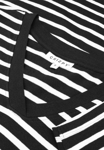 Zhenzi 3/4-Arm-Shirt BERGEN, Dekorative Naht