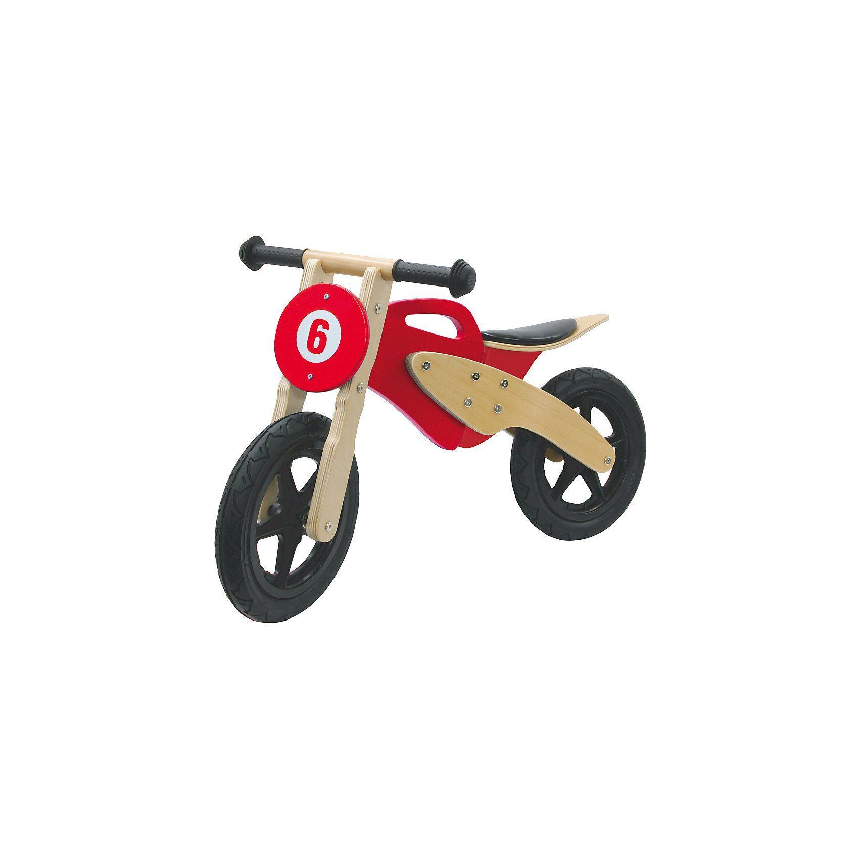 Jamara Laufrad Holz Moto rot