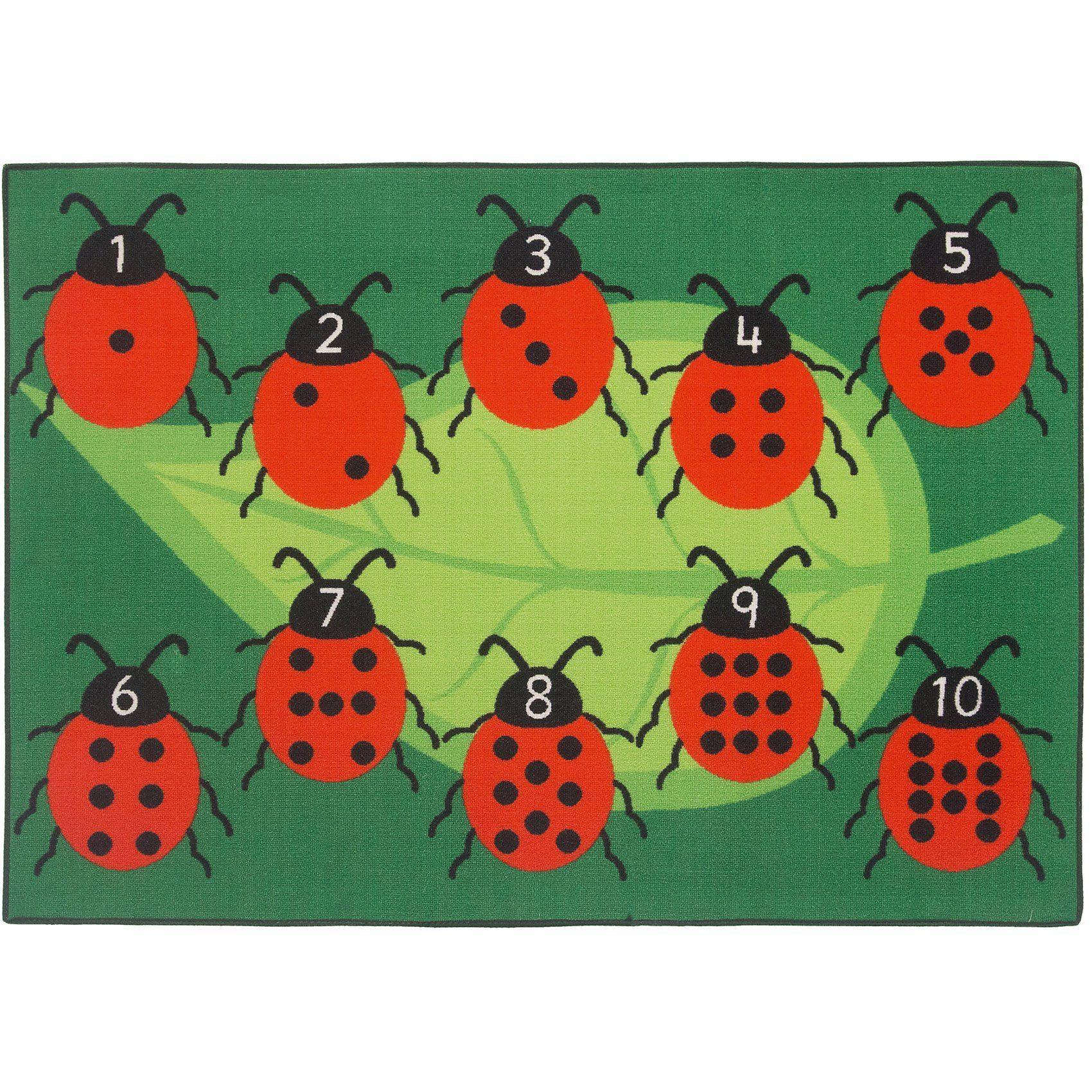 Kinderteppich Marienkäfer Ladybug, 95 x 133 cm