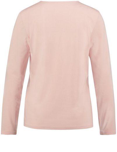 Gerry Weber T-Shirt 1/1 Arm Longsleeve mit Faltenbesatz