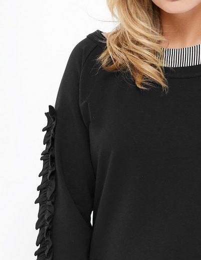 Taifun T-Shirt Langarm Rundhals Sweatshirt im Lagen-Look