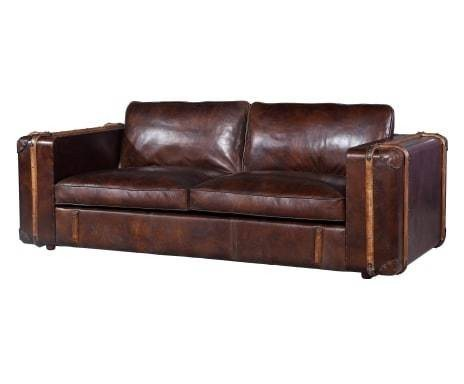 kasper wohndesign sofa 3 sitzer leder braun elsa otto. Black Bedroom Furniture Sets. Home Design Ideas