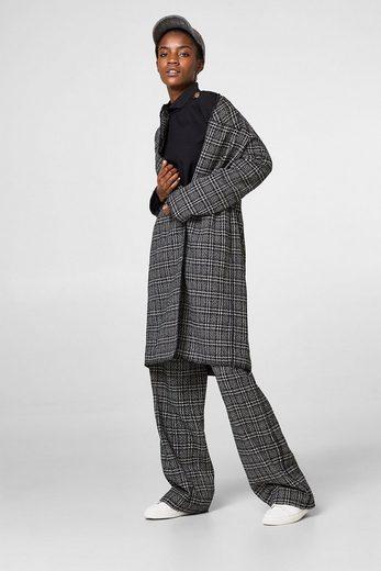 ESPRIT Stretch-Bluse mit Stehbund und Knöpfen
