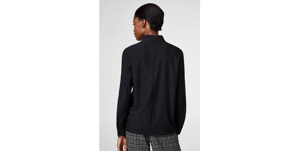 ESPRIT Stretch-Bluse mit Stehbund und Knöpfen Auslass Neue Ankunft hFnMCUa0k
