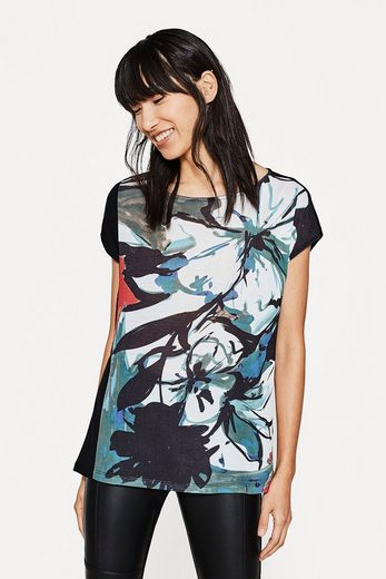 ESPRIT COLLECTION Print-Shirt aus fließendem Material-Mix