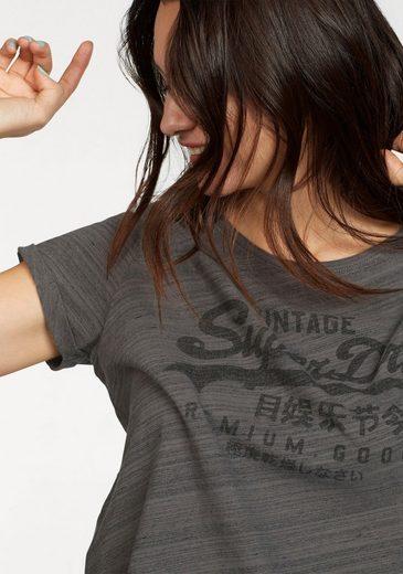 Superdry T-Shirt PREMIUM GOODS BF TEE, in besonderer Streifenoptik