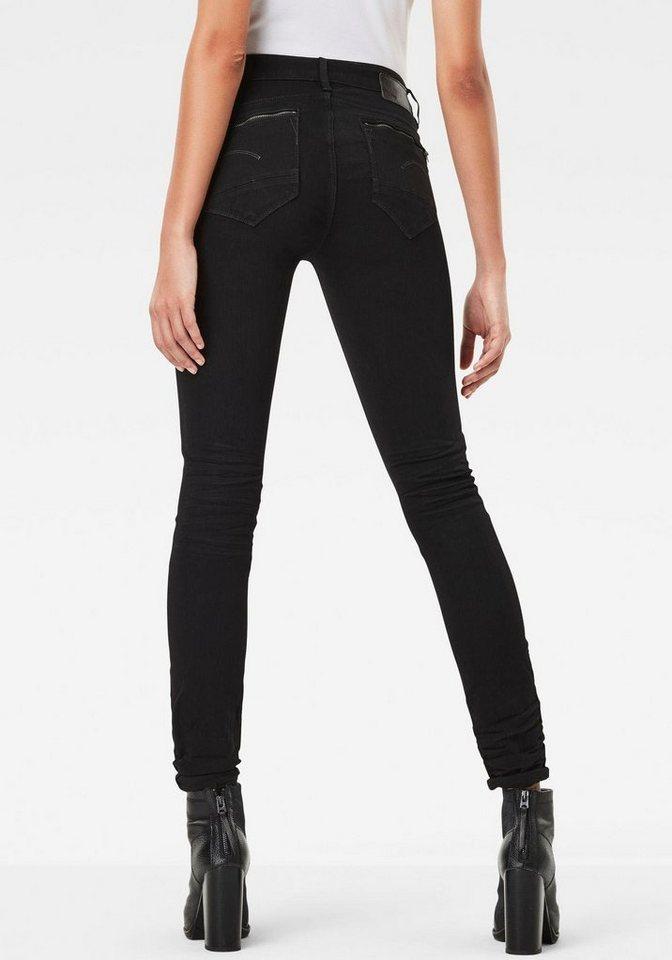 g star raw skinny fit jeans midge zip mit. Black Bedroom Furniture Sets. Home Design Ideas