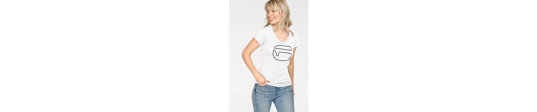 G-Star RAW V-Shirt Ofel slim v t, mit Logo-Frontdruck