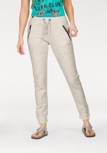 Superdry Jogginghose LUXE FASHION JOGGER, in Melange Optik