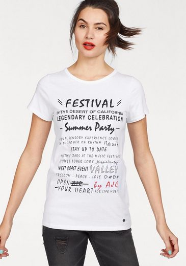 Ajc T-shirt With Printed Statement