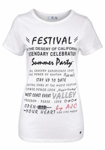 AJC T-Shirt, mit Statement Druck