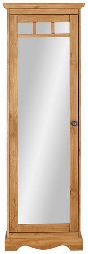 Home affaire Schuhschrank »Melissa«, aus massiver Kiefer, mit Spiegeltür und viel Platz für Schuhpaare, Breite 60 cm