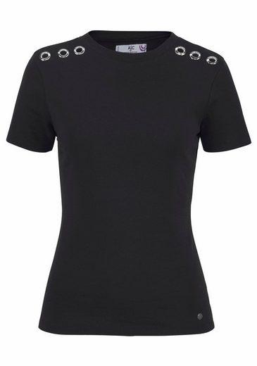 AJC T-Shirt, mit silbernen Zierösen