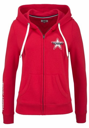 Tommy Jeans Hooded Sweat Jacket With Embroidery