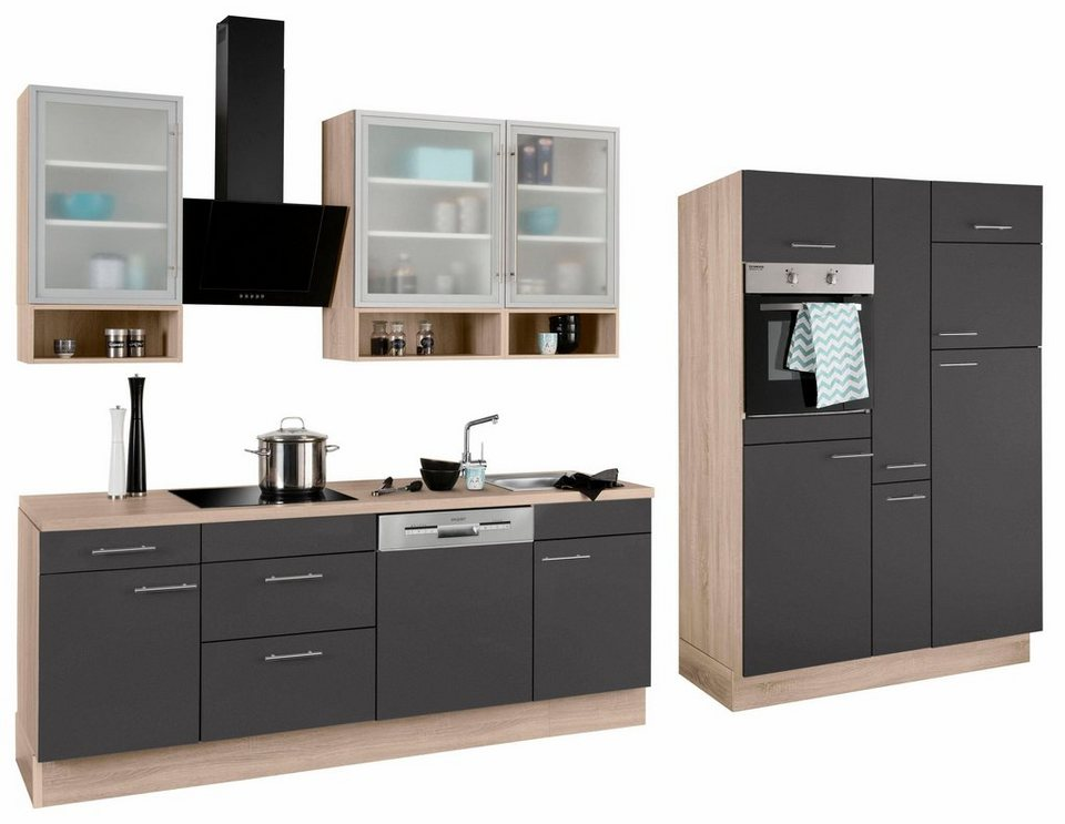 optifit k chenzeile ohne e ger te aue breite 370 cm. Black Bedroom Furniture Sets. Home Design Ideas