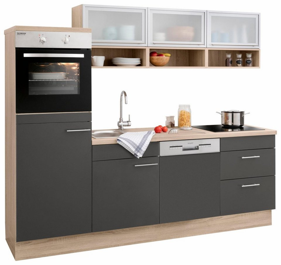 optifit k chenzeile ohne e ger te aue breite 240 cm online kaufen otto. Black Bedroom Furniture Sets. Home Design Ideas