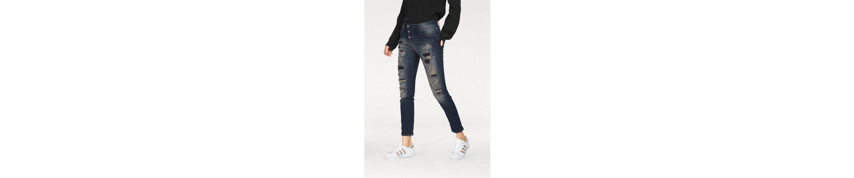 Please Jeans Boyfriend-Jeans P47Q, mit coolen Destroyed-Effekten