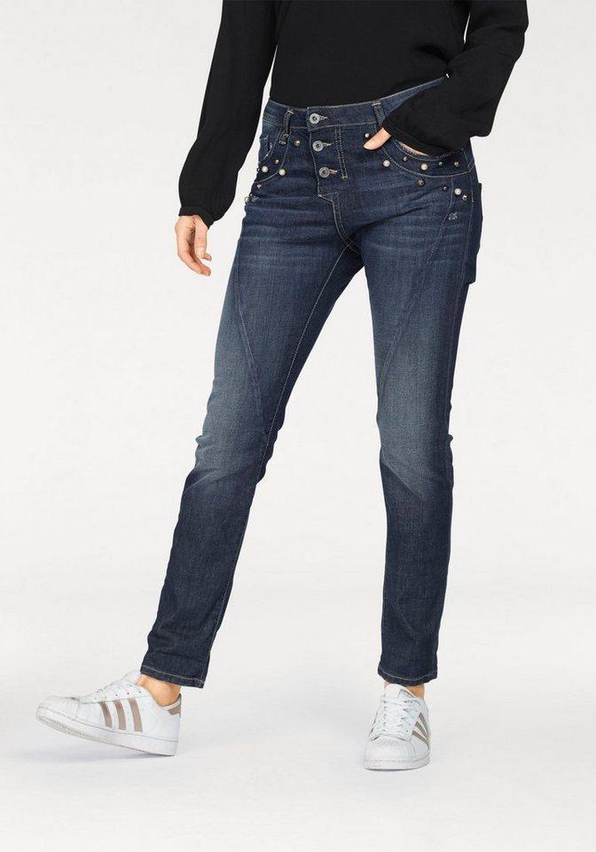 please jeans boyfriend jeans p07v mit perlen nieten online kaufen otto. Black Bedroom Furniture Sets. Home Design Ideas