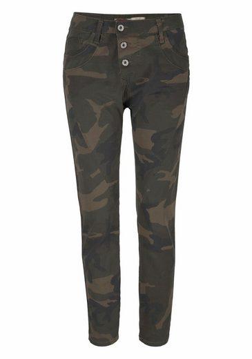 Please Jeans Boyfriend-Hose P97U, mit Galon-Streifen