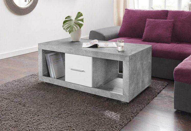couchtisch auf rollen mit schubk sten kaufen otto. Black Bedroom Furniture Sets. Home Design Ideas