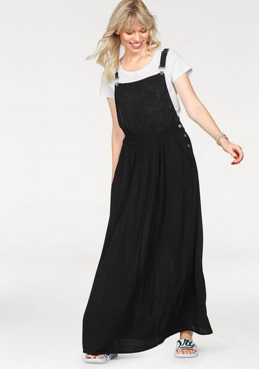 Superdry Maxikleid FESTIVAL DUNGAREE MAXI DRESS, in modischer Latzoptik
