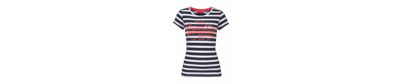 Superdry T-Shirt VINTAGE LOGO STRIPE TEE, im angesagten Streifenlook