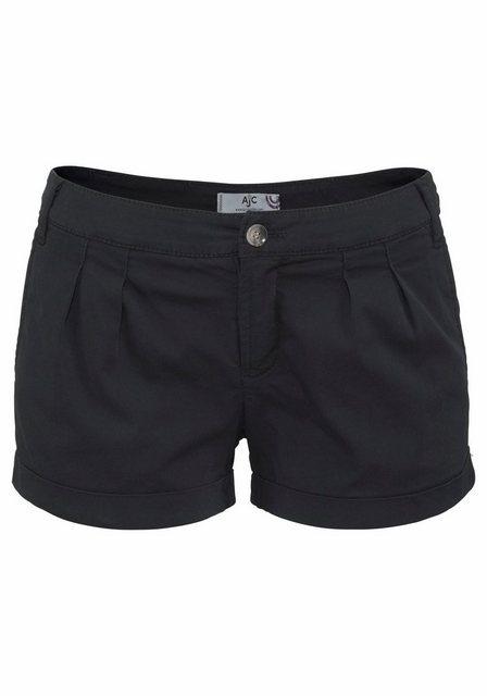Hosen - AJC Hotpants mit Raffung vorne › schwarz  - Onlineshop OTTO