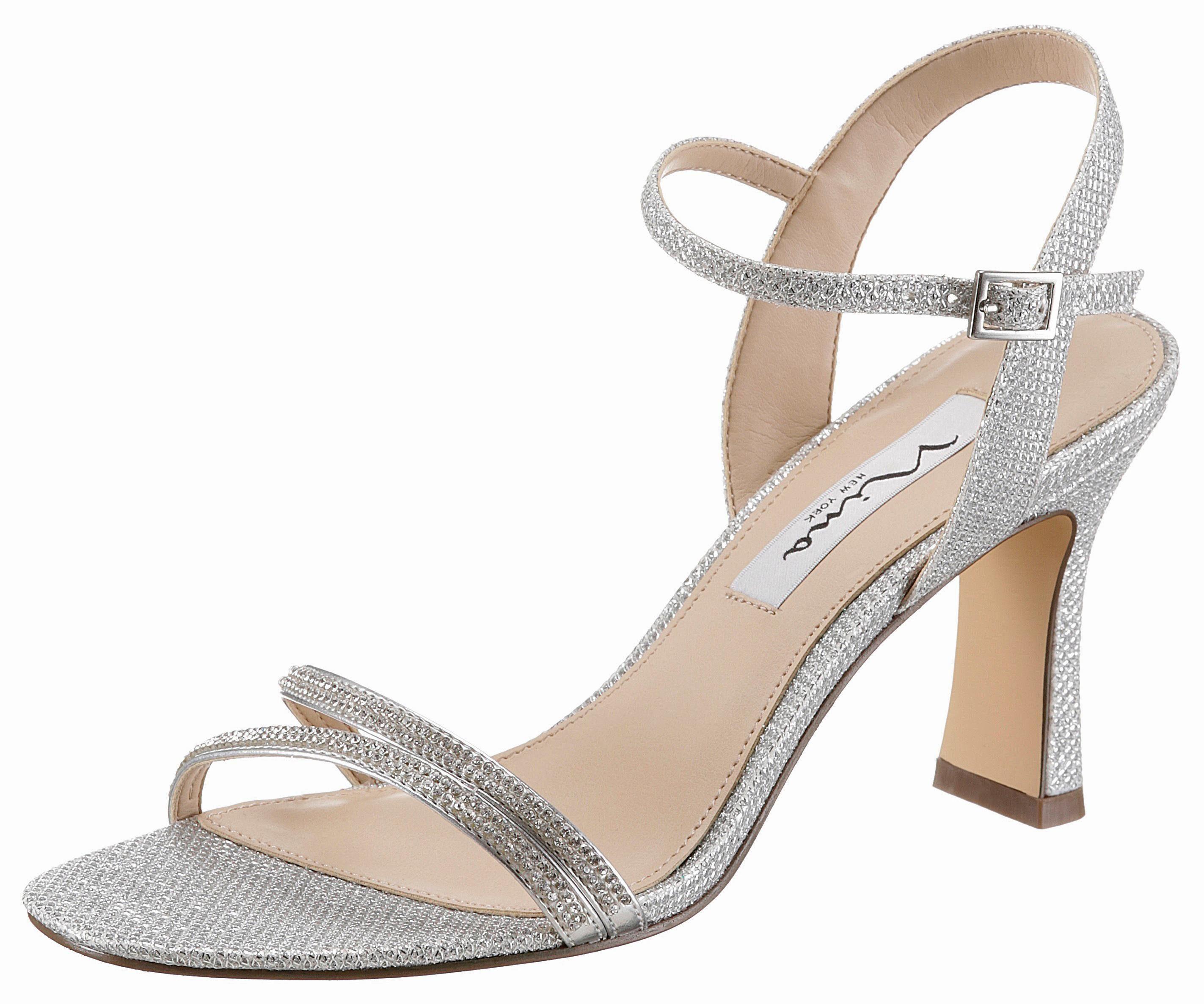 Nina »Siana« Sandalette, mit eleganten Steinchen verziert, silberfarben, silberfarben