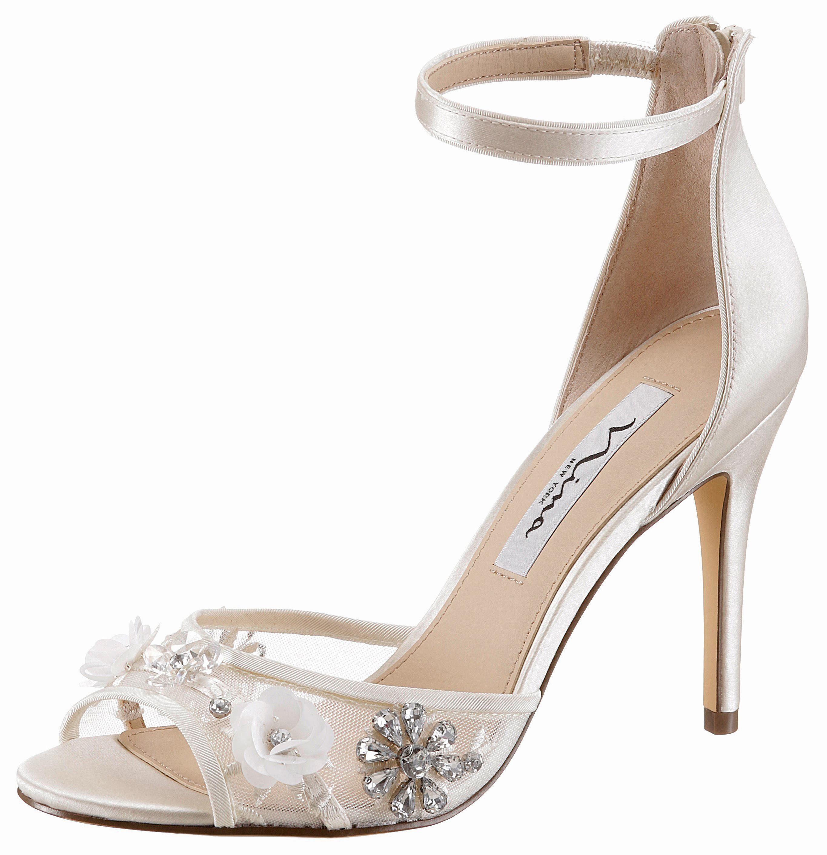Nina Clarity High-Heel-Sandalette, mit feiner Blütenapplikation online kaufen  offwhite
