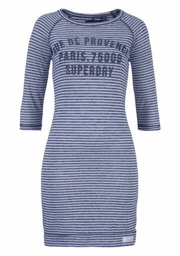 Superdry Jerseykleid HARBOUR SLOUCH CREW DRESS, in besonderer Streifenoptik