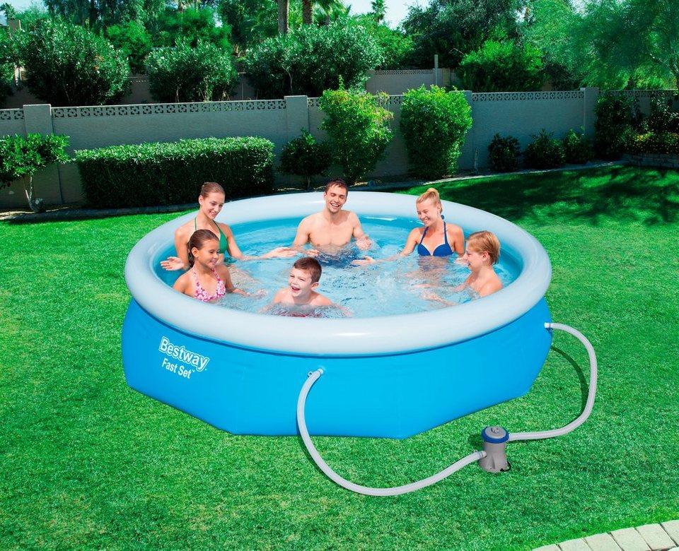 Bestway set quick up pool fast set mit filterpumpe xh 305x76 cm online kaufen otto - Quick up pool zubehor ...