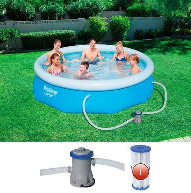 Bestway quick up pool fast set mit filterpumpe xh 274x76 cm online kaufen otto - Quick up pool zubehor ...