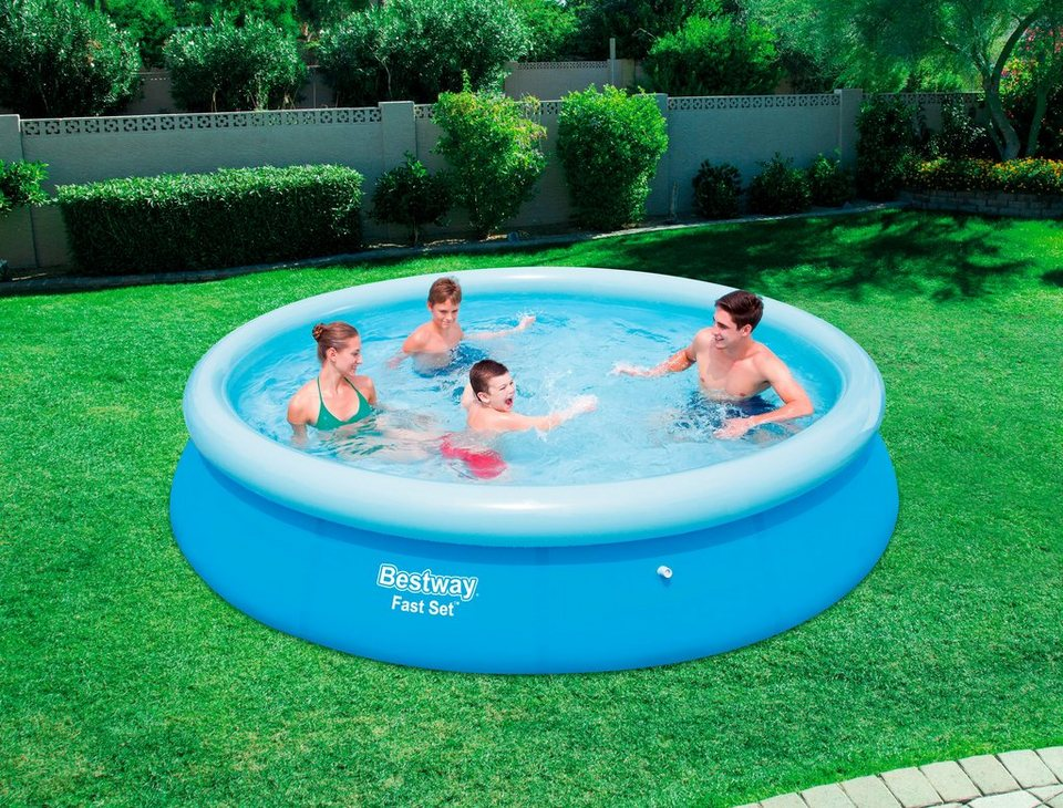 Bestway quick up pool fast set xh 366x76 cm otto for Quick up pool obi