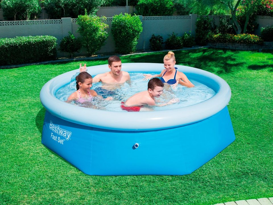 Bestway quick up pool fast set xh 244x66 cm otto for Quick up pool obi