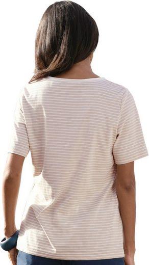 Collection L. Shirt mit Rollsaum am Rundhals-Ausschnitt