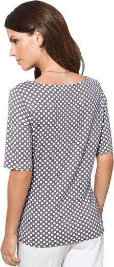 Alessa W. Shirt mit paspeliertem Rundhals-Ausschnitt