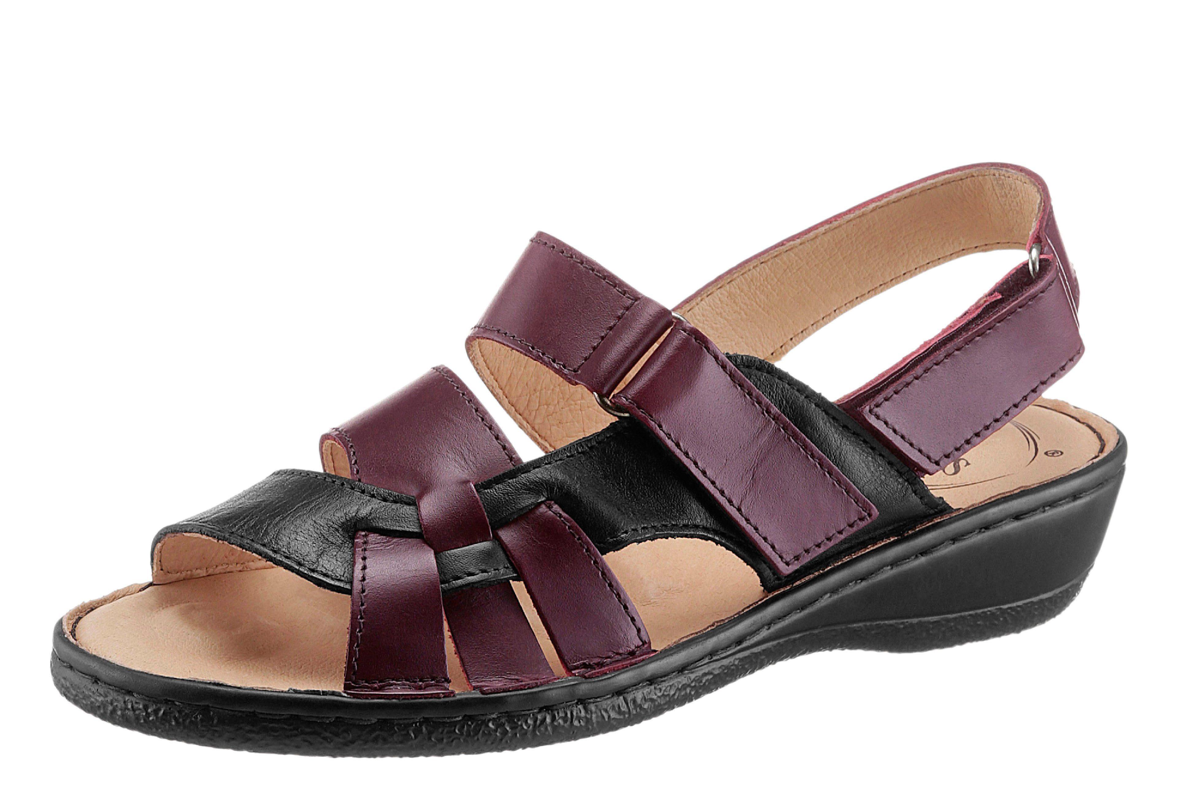 Classic Sandalette mit 5-Zonen-Fußbett kaufen  schwarz-bordeaux