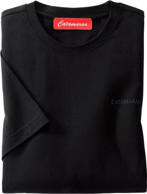 catamaran -  Kurzarm-Shirt mit Rundhals-Ausschnitt (3 Stck.)