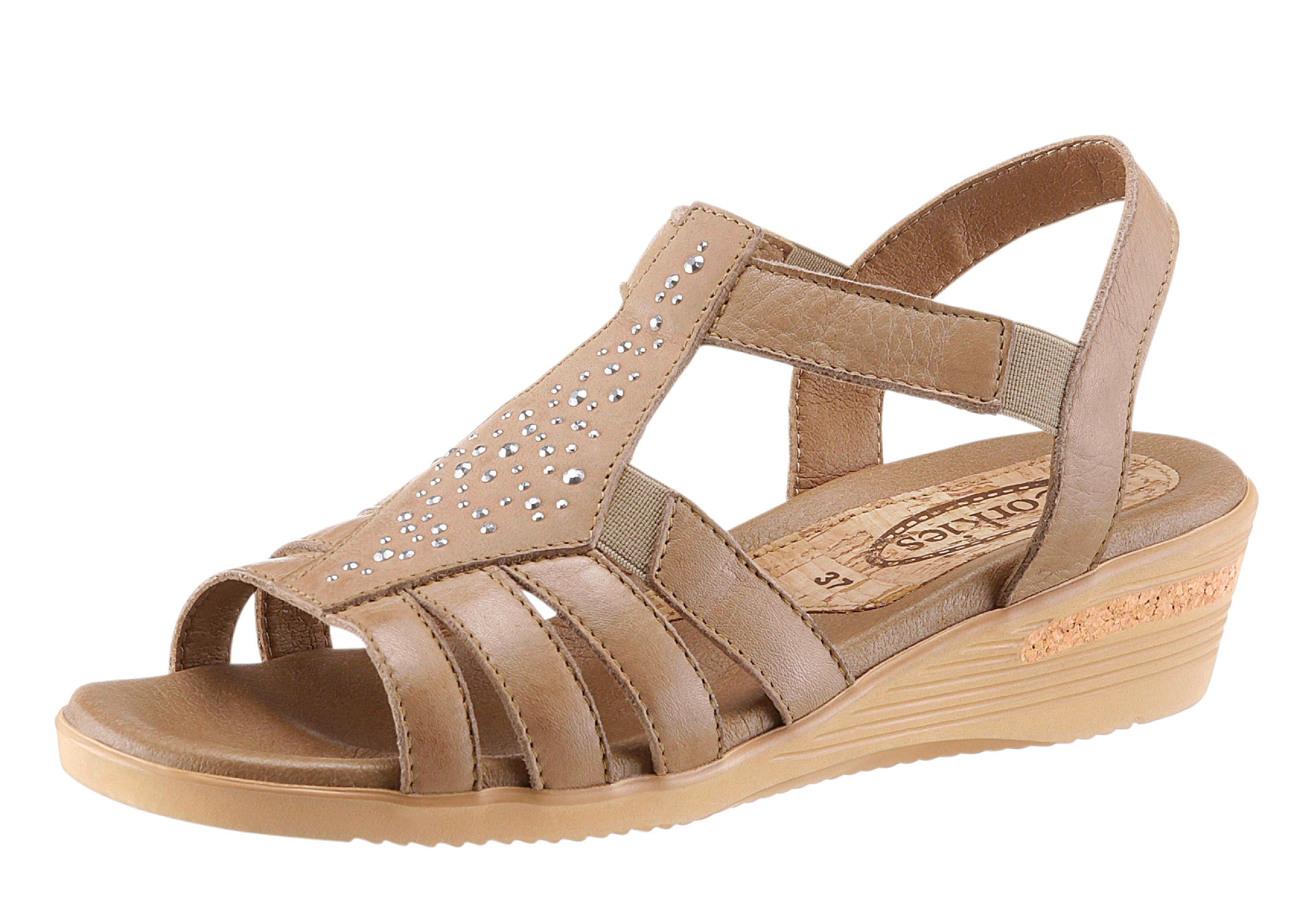 Corkies Sandalette mit weich gepolstertem Fußbett, natur, beige