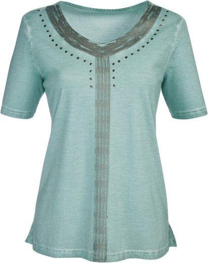 Classic Inspirationen Shirt mit silberfarbigem Druck